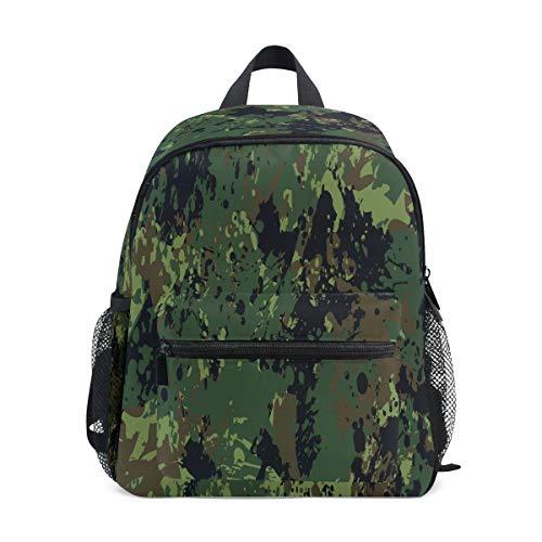 Militärische Ökostrom Studentenrucksack Kinderrucksack Büchertasche Schülerrucksack mit Umhängetasche für die Reise Mädchen Jungs