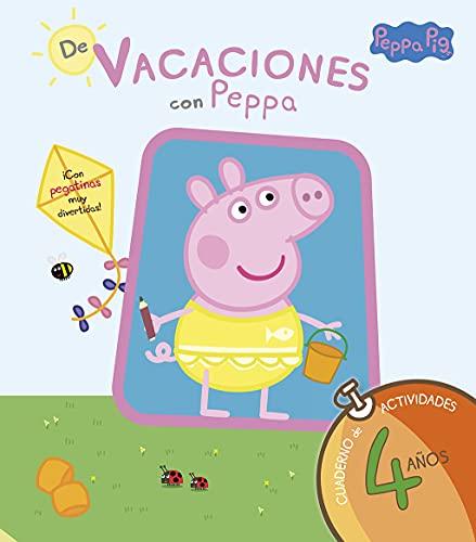 De vacaciones con Peppa - 4 años (Peppa Pig. Cuaderno de actividades): (Con pegatinas)
