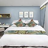 ENEVOTX Sleek Minimalist Microfiber Deerskin Bedding Watercolor Flower Hand Drawn Art Deco 3D HD Digital Printing Bed Runner Bedspread Bed Scarf Bed Flag Mattress Decor