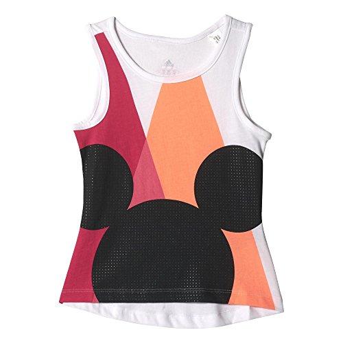 adidas Kinder T-Shirt LK DY TM SS, Weiß/Schwarz, 92, 4055017551089