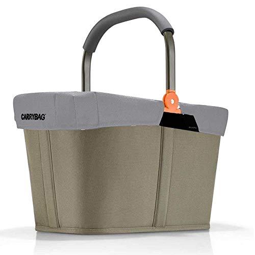 Reisenthel offre panier à provisions carrybag plus housse de protection assortie brise-vue (cadre olive réfléchissant)