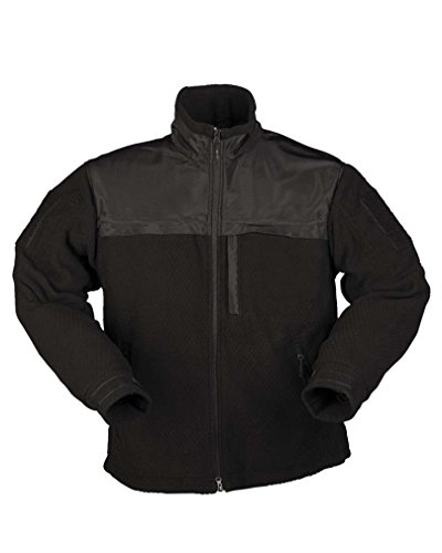 Mil-Tec Elite Fleece Jacke HEXTAC® schwarz Gr.L