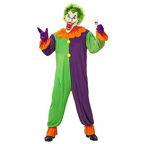 Widmann 11009798 Kostüm böser Clown, Herren, Bunt, XL
