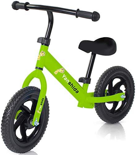 Balance Bike, 12 Kids Balance Bike Lightweight Balance Bike No-Pedal Pre Walking Bike Outdoor Toys for Boys & Girls 2, 3, 4, 5, 6 Year Old by Yanshida