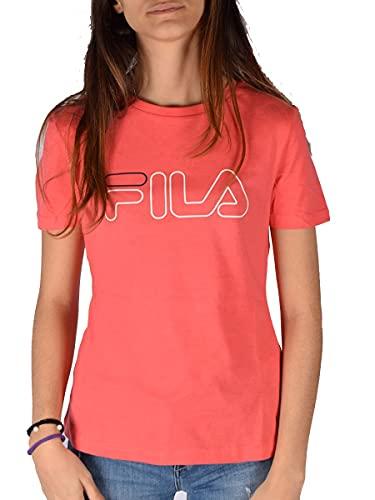 FILA Camiseta de manga corta para mujer. calypso coral XL