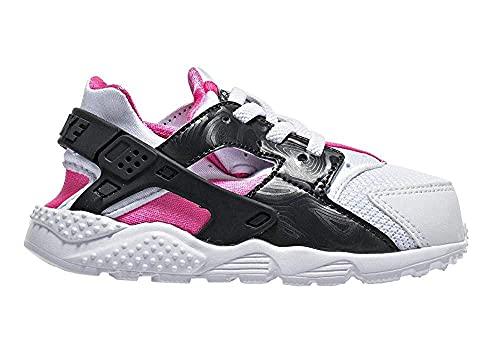 Nike Huarache Run (TD), Scarpe Primi Passi. Bambina, Bianco (Anthracite Hypr Pink Blk), 26