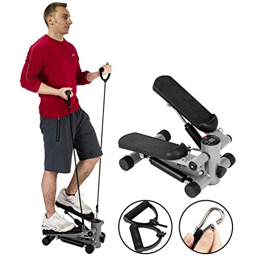 RLF LF Steppers De Escalera De Fitness para Ejercicio, Mini Máquinas Elípticas para Uso Doméstico con Bandas De Resistencia, Equipo De Ejercicio Paso A Paso, Equipo De Entrenamiento