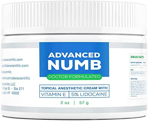Advanced Numb 2 oz 5 Lidocaine Pain Relief Cream Lidocaine Ointment Numbing Cream Made in USA product image
