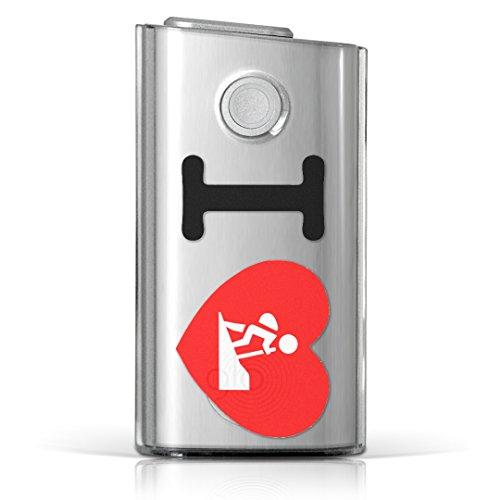 glo グロー グロウ 専用 クリアケース クリアカバー タバコ ケース カバー 透明 ハードケース カバー 収納 デザイン ポリカーボネートユニーク 文字 英語 ハート 002971