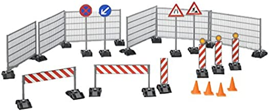 Bruder Construction Set: Railings Site Signs and Pylons