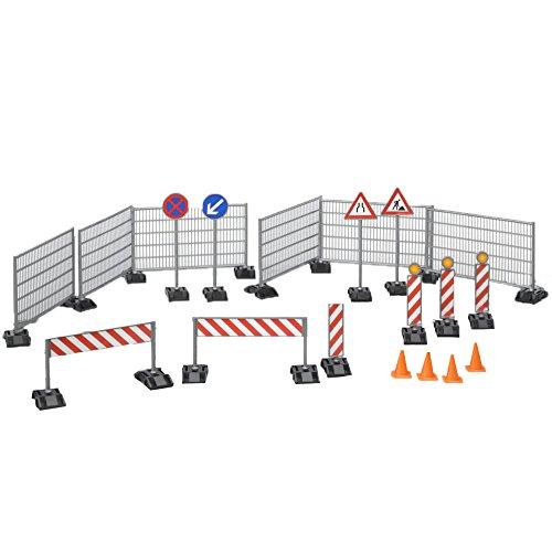 Bruder 3462007 Zubehör Baustellenset: Zäune, Schilder und Pilonen