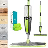 Microfiber Spray Mop for Floor Cleaning, MOOSOO Hardwood Floor Mop with 3 Washable Pads and 600ml Refillable Bottle, 360° Dry Wet Mop for Home Kitchen Hardwood Laminate Wood Ceramic Tile Floors - MP42