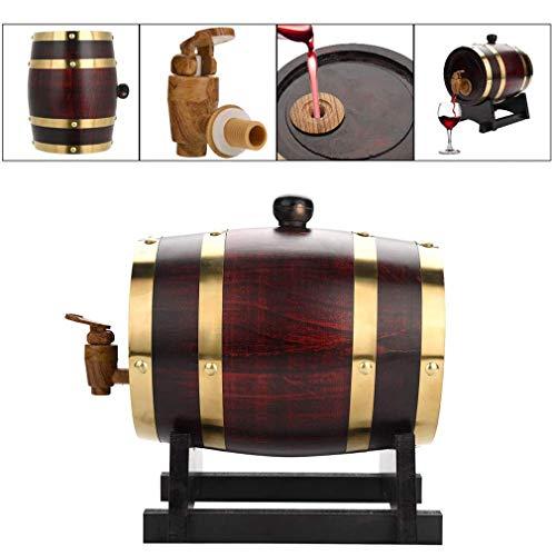 DBWIN Premium Oak Aging Barrel - Alter Ihren eigenen Whisky, Bier, Wein, Bourbon, Tequila, Rum, scharfe Sauce & mehr, Fass im Alter von 1,5 l