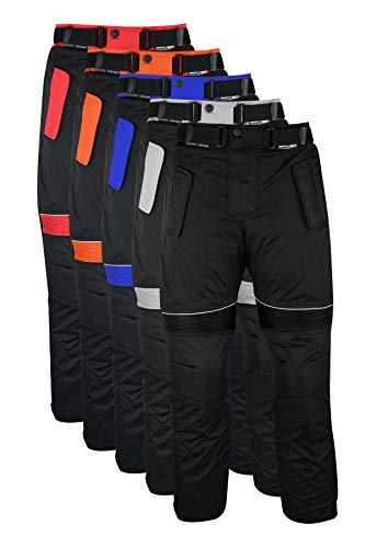 German Wear Herren Motorradhose Textilien Motorrad Hose Kombihose, 46, Schwarz