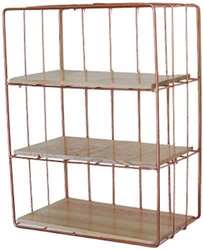 Estantes flotantes de metal de hierro forjado para dormitorio cosméticos de hierro forjado estante de exhibición de pared de la sala de estar estante de regalos de gel de ducha de baño (color: dorado