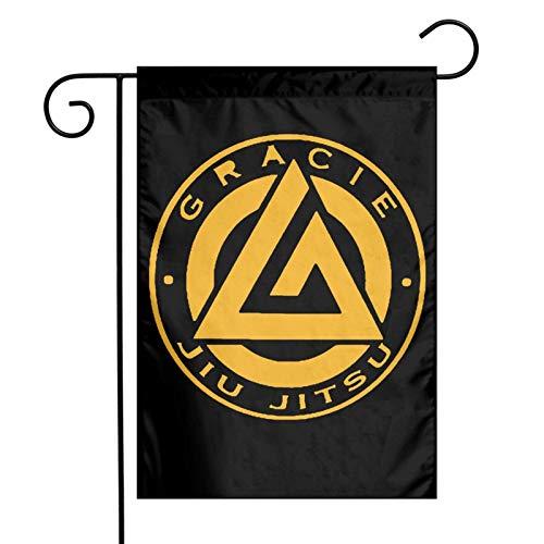 DRXX Bandera de jardín de Gracie Jiu Jitsu 30 * 45 cm Bandera de decoración al Aire Libre Bandera de señal de balcón de Patio