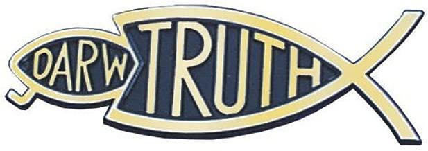 Travelling Witness Christian Bumper Christian Sticker Gold Truth Fish Eating Darwin Fish 14cm