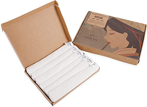 YOUR VIP SKIN - Toallas de bambú multiusos, 6 piezas, toallitas de limpieza, Toalla Facial para Bebés, desmaquillante,...