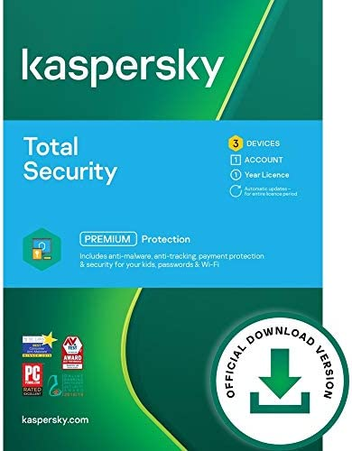 Kaspersky Total Security 2021 3 Devices 1 Year PC Mac Android Online Code product image