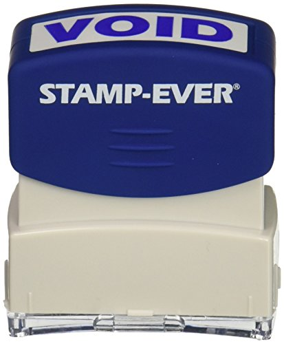 Stamp-Ever Pre-Inked Message Stamp, Void, Stamp Impression Size: 9/16 x 1-11/16 Inches, Blue (5968)