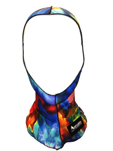 Aeroskin Nylon Spandex Patterned Hood, Tie Dye