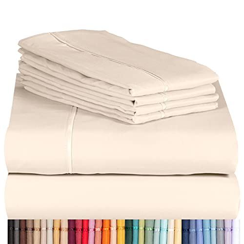Product Image of the LuxClub 6 PC Sheet Set Bamboo Sheets Deep Pockets 18' Eco Friendly Wrinkle Free...