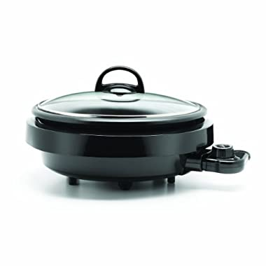 Aroma Housewares  ASP-137B 3-Quart/10-inch 3-in-1 Super Pot with Grill Plate, Black
