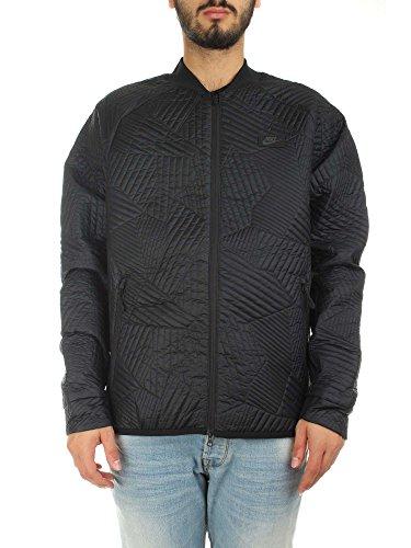 Nike Sportswear Herren Jacke, Herren, 864946, Schwarz (Black/Black), L