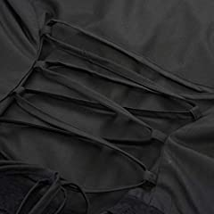 SCARLET DARKNESS Women Steampunk Gothic Lolita Long Sleeve Ruffle Button Blouse Tops Black Size M #5