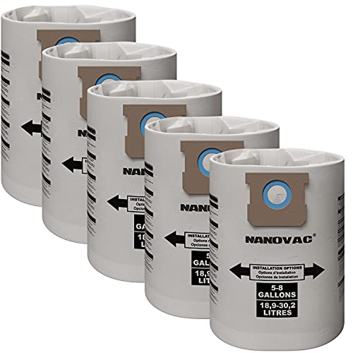 Shop-Vac 90661 906-61 9066100 Disposable Collection Bags for 5-8 Gallon Vacs, 5 bags by Shop Vac