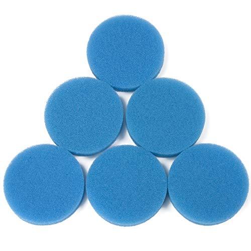 LTWHOME Compatible Bleu Grossier Mousseux Média Filtration Tapis Convient pour Eheim Classic 2213/250 2616131 (Paquet de 6)