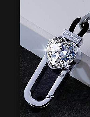 YJLOVK Para la Cubierta de la Llave del Caso de la Llave remota del Coche del Diamante de Lujo para BMW 520525 f30 f10 F18 118i 320i 1 3 5 7Series X3 X4 M3 M4 M5 E34 E90 E60 E36, Solo Llavero