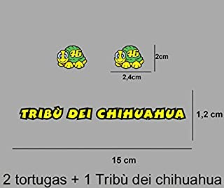 Pd422 Aufkleber Autocollants Adesivi Moto GP Decals Motorcycle Ecoshirt IB-TC5V-U15D Pegatinas Stickers Tribu Dei Chihuahua Rossi Ref