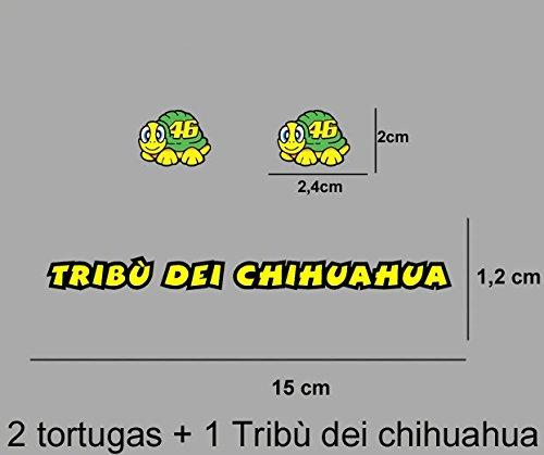 Ecoshirt IB-TC5V-U15D Aufkleber Stickers Tribu Dei Chihuahua Rossi Ref: Pd422 Aufkleber Autocollants Adesivi Moto GP Decals Motorcycle