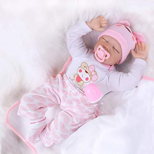 FFAN Bebés para niños Juguetes Reborn Baby Dolls Realista Reborn Baby Doll para niños y niñas Hecho de Materiales de Vinilo de Silicona Suave