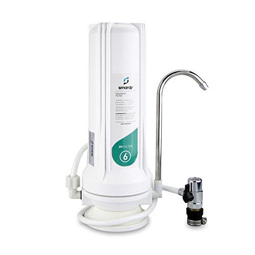 smardy HOME 201 Trinkwasserfilter Auftischfilter für Wasserhahn 5 Mikron PP Sedimentfilter