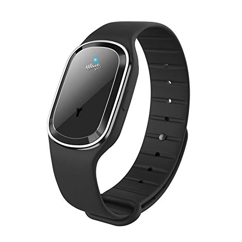 Alician Portable Ultrasonic Mosquito Repellent Bracelet Pest Repeller Wrist Watch USB Charging Style Black
