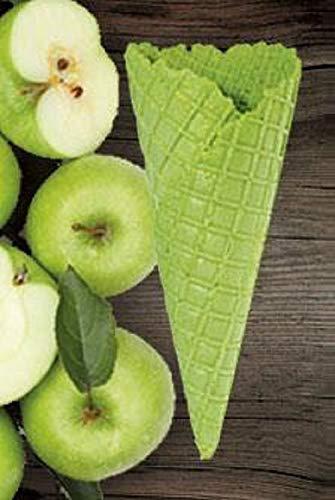 Süße Eiswaffel Grüner Apfel Geschmack - 135xØ52mm - 42 Stück