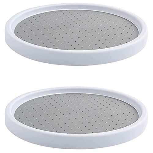 Juego de 2 especieros 360° giratorios – Organizador de armario Práctico estante especiero para armario de cocina o encimera – Organizador de plástico para Especias,30.5cm