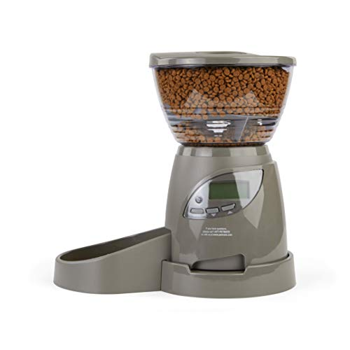 Petmate Programmable Pet Feeder, 5 lbs., One Size Fits All, Black