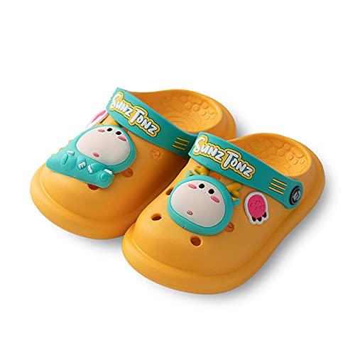 Zapatillas de Verano de Mujer,Zapatillas de la Cueva para niños Verano Hombres y Mujeres Bolsas Playas China bebé bebé Lindo Claro Zapatillas-Amarillo_180mm
