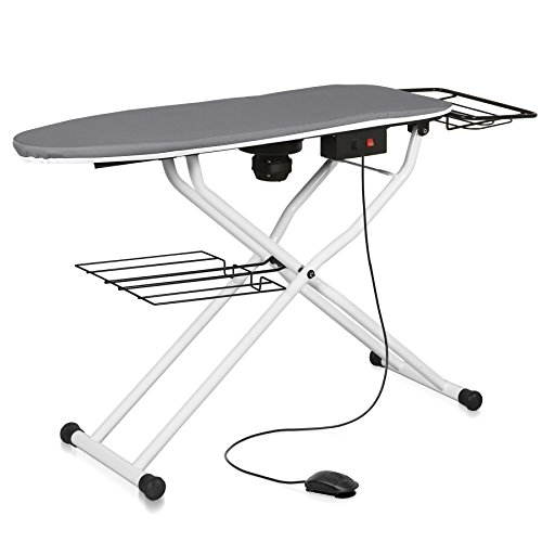 Reliable The Board 550VB Professional Vacuum Table, 110V, Heated Surface, Laundry Rack, Ironing Station Support, Quick Fold Up, Tube Frame Construction, 16 Inch x 48.5 Inch Pressing Dimensions