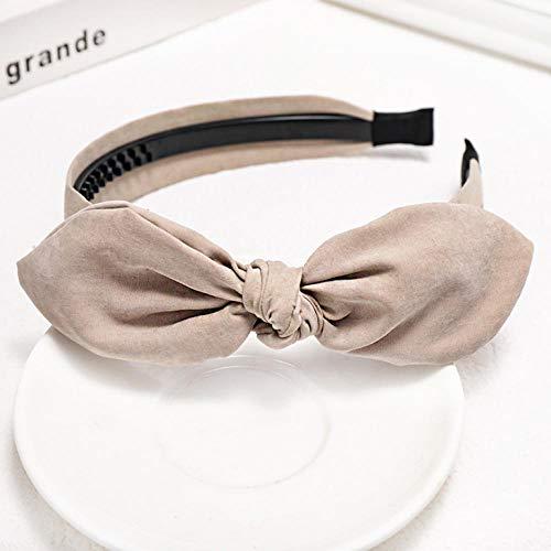 Empty Frais Doux et Mignon Sauvage noué Mignon Oreilles de Lapin Bandeau Femmes Mode Cheveux Accessoires-Beige
