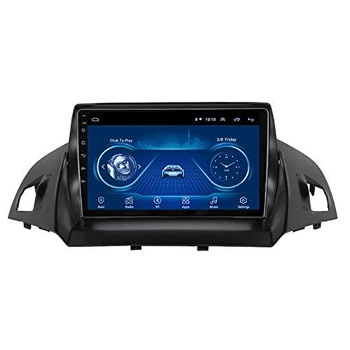 Autoradio Indash Multimedia Head Unit, per Ford Kuga Escape C-Max 2013-2016, lettore MP5 touch screen da 9 pollici, controllo del volante con collegamento a specchio Chiamate in vivavoce Bluetooth