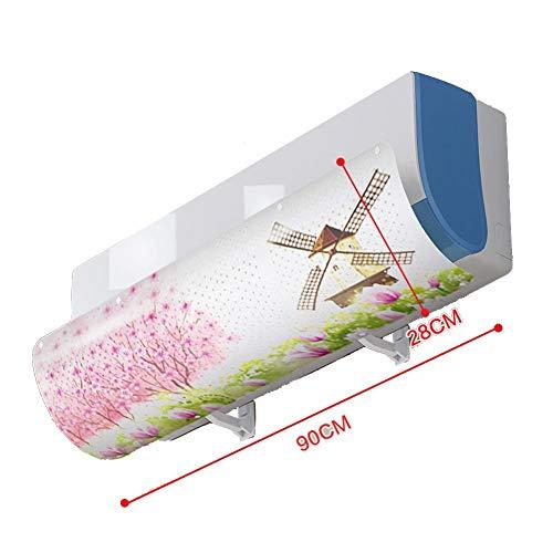 TIZJ Deflector de Aire Acondicionado, Aire Acondicionado Deflector de Viento Que sopla contra Directo Adecuado for Todos los Modelos de Inicio (Varios Modelos) (Color : F)
