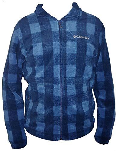 Columbia Men's Steens Mountain Full Zip 2.0 Soft Fleece Jacket (Navy Plaid, Large)