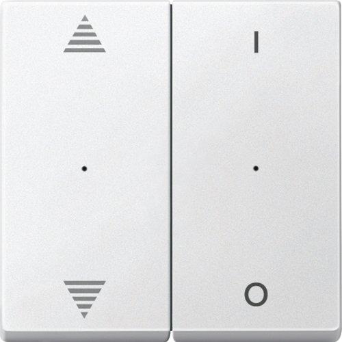 Merten 625719 wippers voor knoppen. 2-voudig met opdruk pijlen op/omlaag en 1/0, poolwit, systeem M