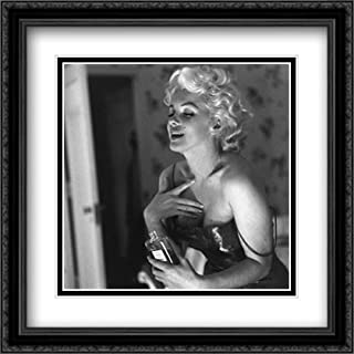 Marilyn Monroe Chanel No. 5 28x28 Double Matted Large Black Ornate Framed Movie Star Poster Art Print