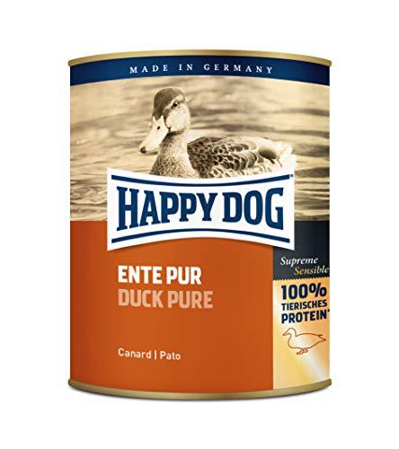 Happy Dog Fleisch Dosen Ente Pur, 800g, 6er Pack (6 x 800 g)