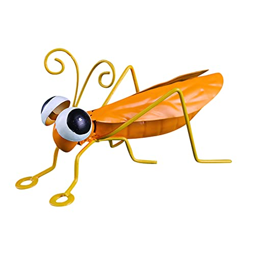 general3 Metal Locust Art 3D Sculpture Decor, Garden Accents Backyard Animal Ornaments Gift, Inspirational Wall Lawn Hanging Decor for Indoor and Outdoor, Miniatures Home Decor 1/4 Pack (1PC Yellow) (0.25 Ct Art)